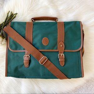 Polo Ralph Lauren Green 90's Messenger Bag